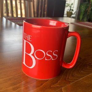 Large red The Boss mug